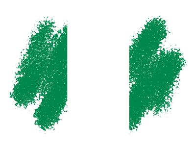ナイジェリア連邦共和国の国旗-クレヨン1