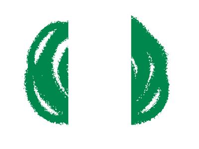 ナイジェリア連邦共和国の国旗-クラヨン2