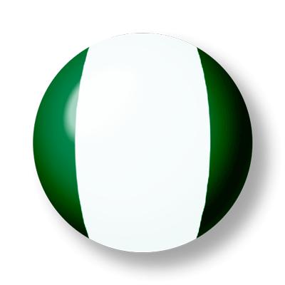 ナイジェリア連邦共和国の国旗-ビー玉
