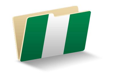 ナイジェリア連邦共和国の国旗-フォルダ