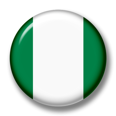ナイジェリア連邦共和国の国旗-缶バッジ