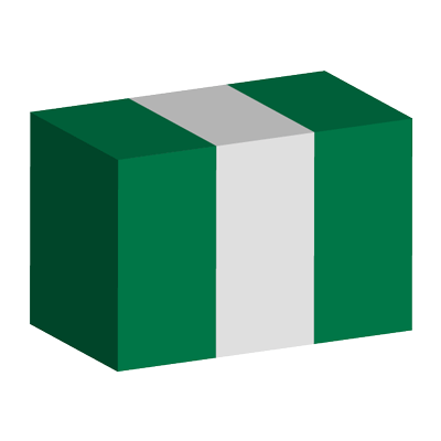 ナイジェリア連邦共和国の国旗-積み木