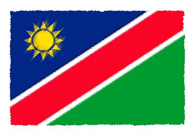 ナミビア共和国の国旗-パステル