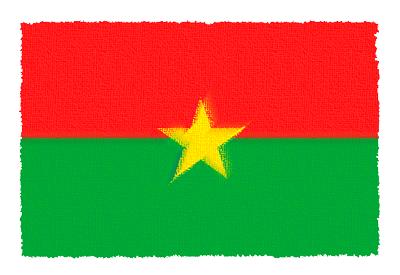 ブルキナファソの国旗-パステル