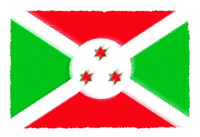 ブルンジ共和国の国旗-パステル