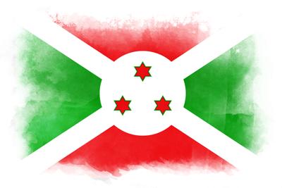 ブルンジ共和国の国旗-水彩風