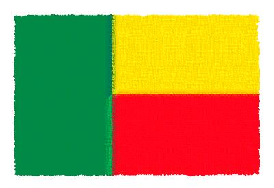 ベナン共和国の国旗-パステル