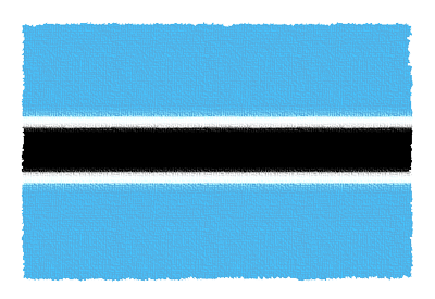 ボツワナ共和国の国旗-パステル