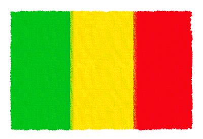 マリ共和国の国旗-パステル