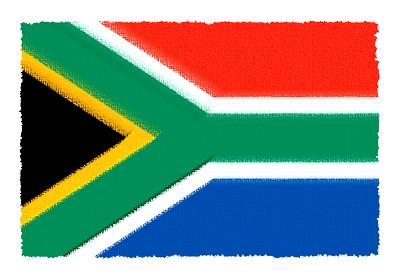 南アフリカ共和国の国旗-パステル
