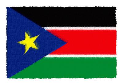 南スーダン共和国の国旗-パステル