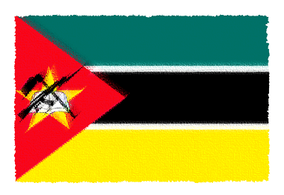 モザンビーク共和国の国旗-パステル