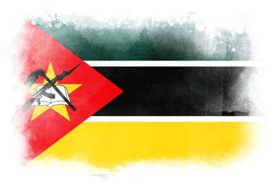 モザンビーク共和国の国旗-水彩風