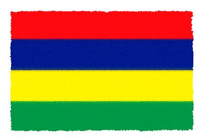モーリシャス共和国の国旗-パステル