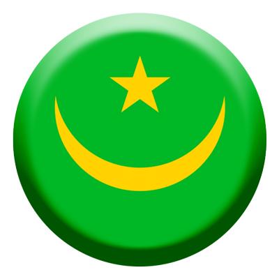 モーリタニア・イスラム共和国の国旗-コイン