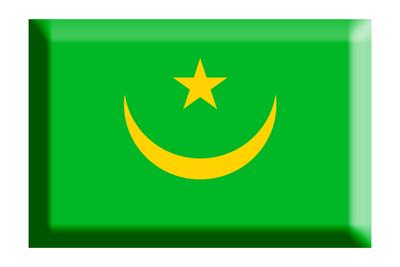 モーリタニア・イスラム共和国の国旗-板チョコ