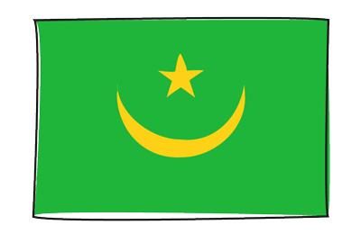 モーリタニア・イスラム共和国の国旗-グラフィティ
