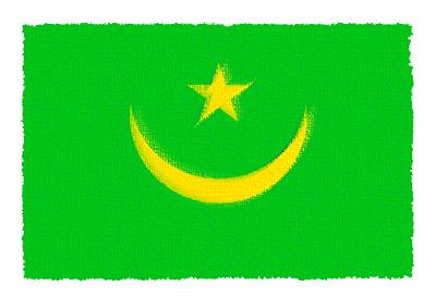 モーリタニア・イスラム共和国の国旗-パステル