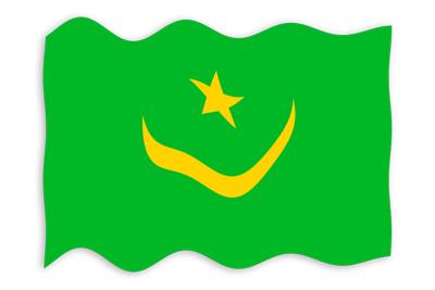 モーリタニア・イスラム共和国の国旗-波