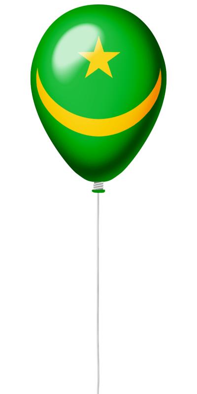 モーリタニア・イスラム共和国の国旗-風せん