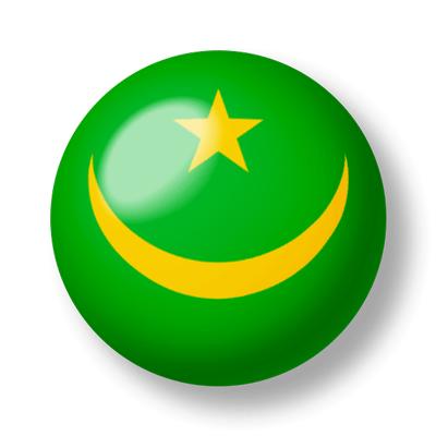 モーリタニア・イスラム共和国の国旗-ビー玉