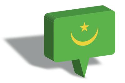 モーリタニア・イスラム共和国の国旗-マップピン