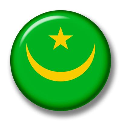 モーリタニア・イスラム共和国の国旗-缶バッジ