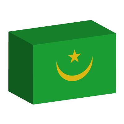 モーリタニア・イスラム共和国の国旗-積み木