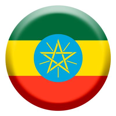エチオピア連邦民主共和国の国旗-コイン