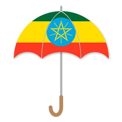 エチオピア連邦民主共和国の国旗-傘