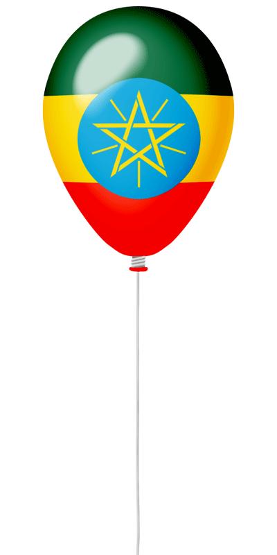 エチオピア連邦民主共和国の国旗-風せん