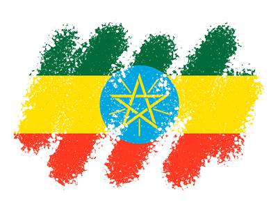 エチオピア連邦民主共和国の国旗-クレヨン1