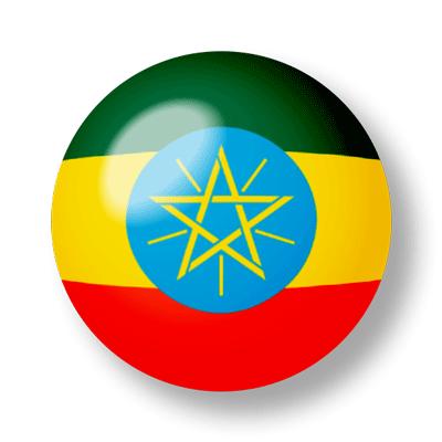 エチオピア連邦民主共和国の国旗-ビー玉