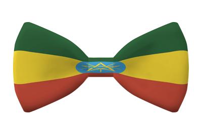 エチオピア連邦民主共和国の国旗-蝶タイ