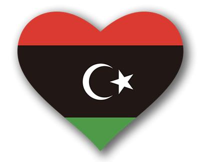 リビアの国旗-ハート