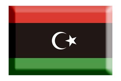 リビアの国旗-板チョコ