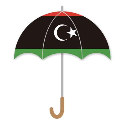 リビアの国旗-傘