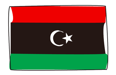 リビアの国旗-グラフィティ