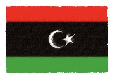 リビアの国旗-パステル