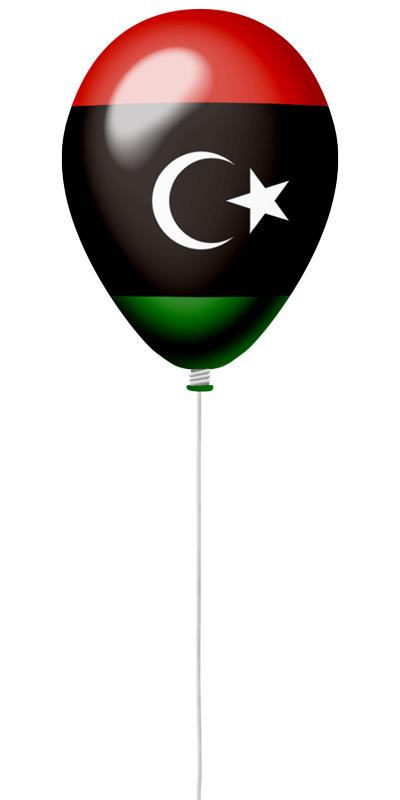 リビアの国旗-風せん