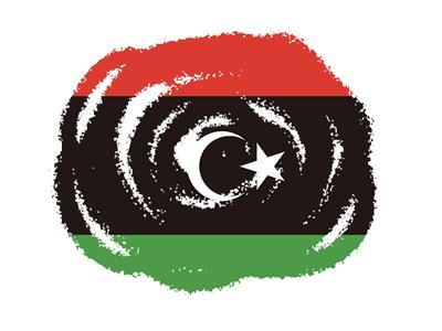 リビアの国旗-クラヨン2