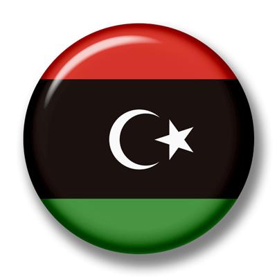 リビアの国旗-缶バッジ
