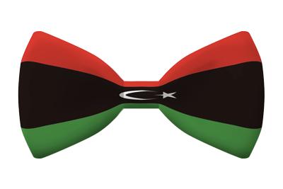 リビアの国旗-蝶タイ
