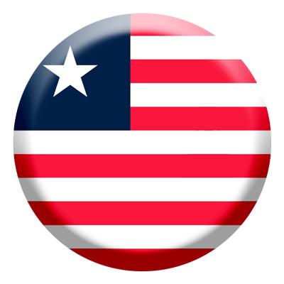 リベリア共和国の国旗-コイン