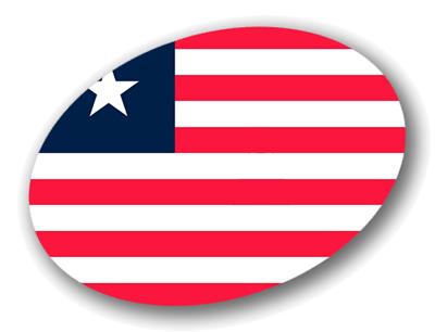 リベリア共和国の国旗-楕円