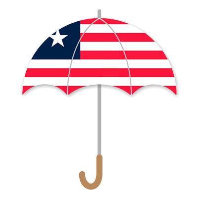 リベリア共和国の国旗-傘