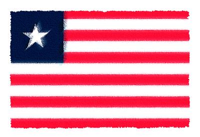 リベリア共和国の国旗-パステル