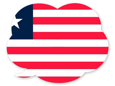 リベリア共和国の国旗-吹き出し