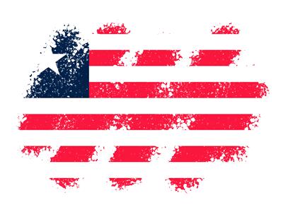 リベリア共和国の国旗-クレヨン1