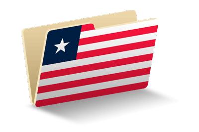 リベリア共和国の国旗-フォルダ